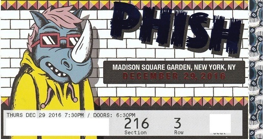 Face Value Tickets Phish Madison Square Garden Msg